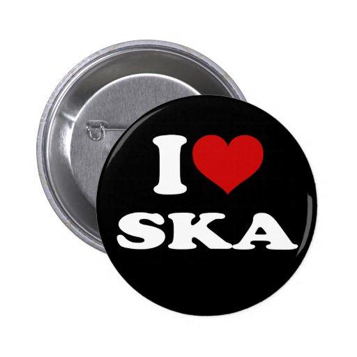 I Love Ska Pins
