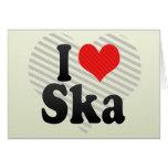 I Love Ska Greeting Card