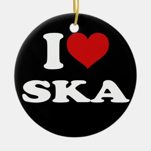 I Love Ska Christmas Tree Ornaments