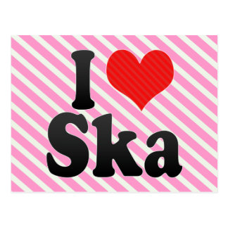 I Love Ska Postcard