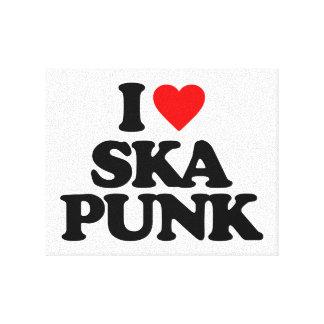 I LOVE SKA PUNK CANVAS PRINT