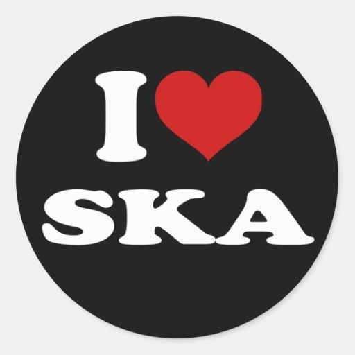 I Love Ska Stickers
