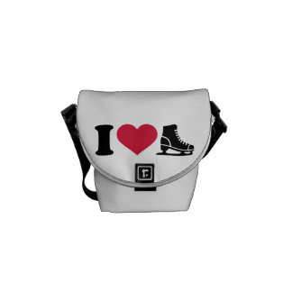 I love skate speed figure skating courier bag