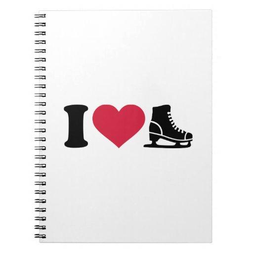 I love skate speed figure skating notebook