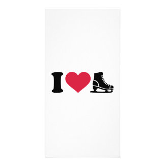 I love skate speed figure skating picture card