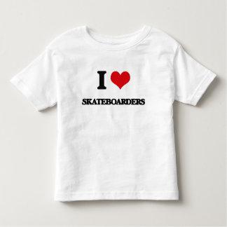 I Love Skateboarders T Shirts