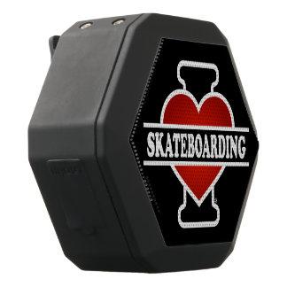 I Love Skateboarding Black Bluetooth Speaker