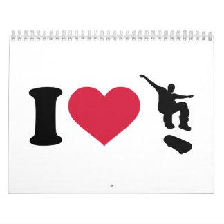 I love Skateboarding Calendar