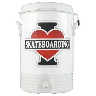 I Love Skateboarding Cooler