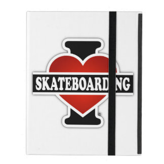 I Love Skateboarding iPad Case