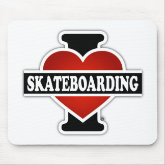 I Love Skateboarding Mouse Pad