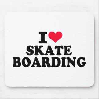 I love Skateboarding Mouse Pad