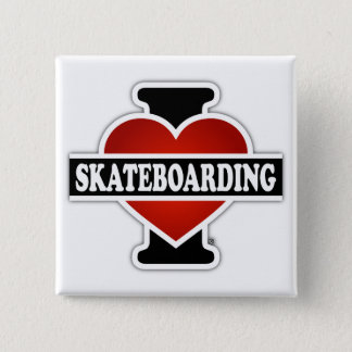 I Love Skateboarding Pinback Button