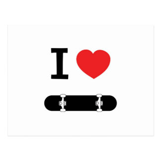 I love skateboarding postcard