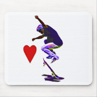 I love Skateboarding Vector Mouse Pad