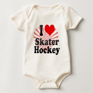 I love Skater Hockey Baby Bodysuit