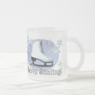 I Love Skating Frosted Glass Coffee Mug