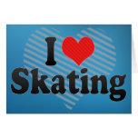 I Love Skating Greeting Card