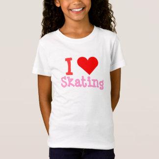 I Love Skating Heart Bella Babydoll Shirt