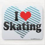 I Love Skating Mouse Pad