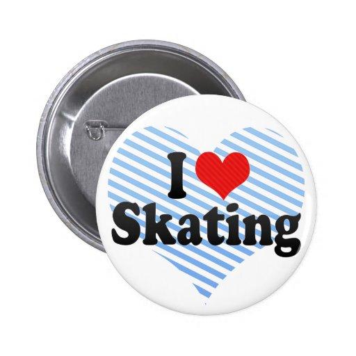 I Love Skating Pinback Button