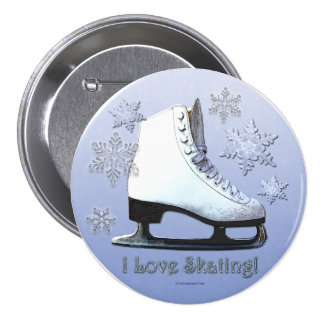 I Love Skating Pinback Button