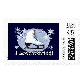 I Love Skating! Postage Stamp