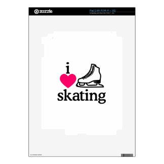 I Love Skating Skins For The iPad 2