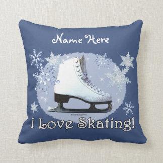I Love Skating! Throw Pillow