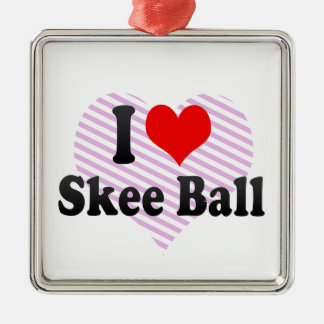 I love Skee Ball Metal Ornament