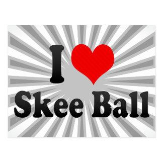 I love Skee Ball Postcard
