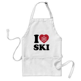 I Love Ski Apron