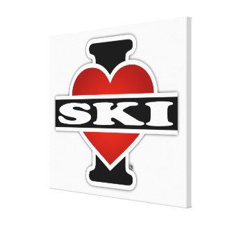 I Love Ski Canvas Print