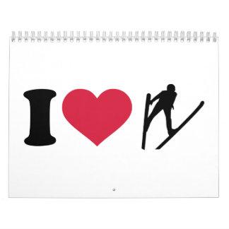 I love Ski jumping Calendar