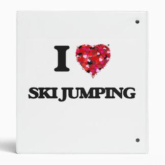 I Love Ski Jumping Vinyl Binders