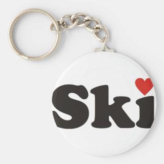 I love ski keychain