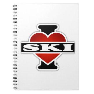 I Love Ski Notebook