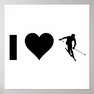 I Love Ski Posters