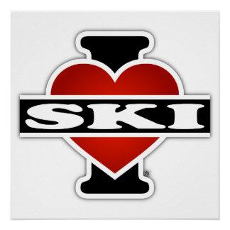 I Love Ski Poster