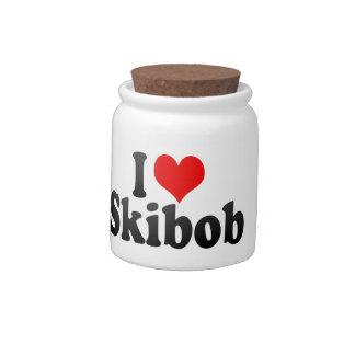 I love Skibob Candy Dish