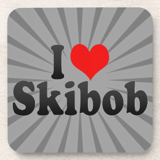 I love Skibob Drink Coaster