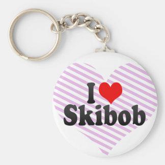 I love Skibob Keychain