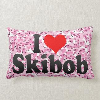 I love Skibob Pillow