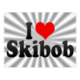 I love Skibob Postcard