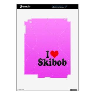 I love Skibob Decal For iPad 2
