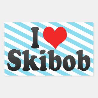 I love Skibob Rectangular Sticker