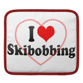 I love Skibobbing iPad Sleeves