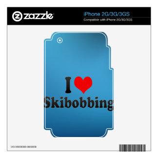 I love Skibobbing Skin For iPhone 3G