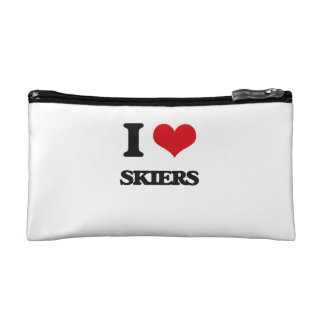 I Love Skiers Cosmetic Bags