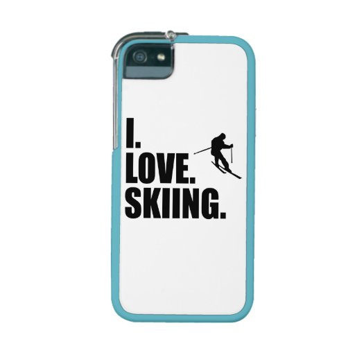 I Love Skiing Case For iPhone 5